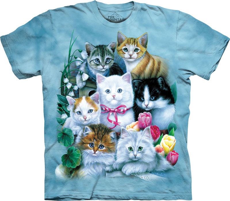 f035986b The Mountain T-shirts - Tie Dyed Cat T-Shirts, Animal T-Shirts from ...