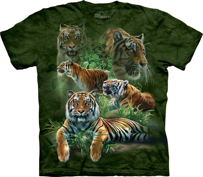Big Jungle Cats Lion Tiger Panther Cheetah The Mountain T-Shirt 3315 All Sizes