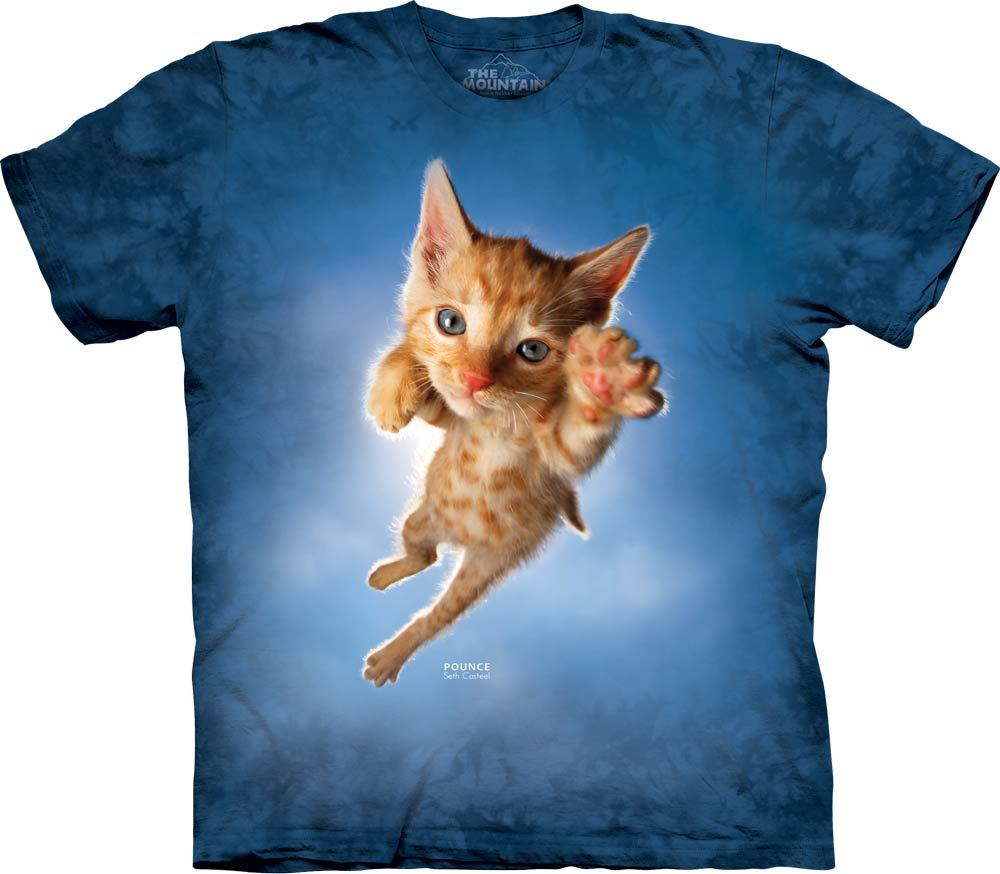 8b76b708 The Mountain T-shirts - Tie Dyed Cat T-Shirts, Animal T-Shirts from ...