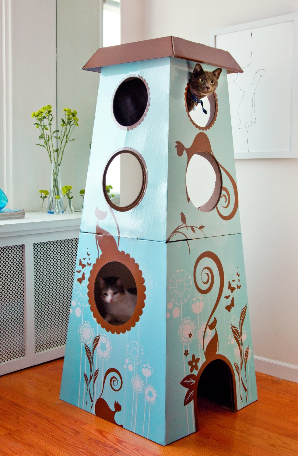 modern cat furniture  cat condos cat trees towers gyms cat  - cat castle