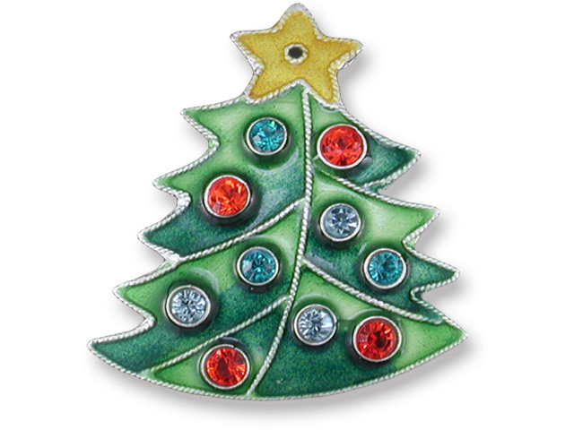 ... Crystal Christmas Tree Pin Sterling Silver Zarah Jewelry